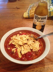 chili with chips