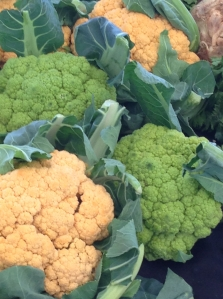 green-yellow cauliflower