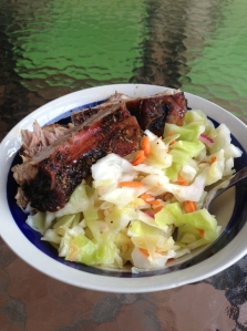 ribs with slaw