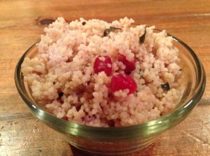 couscous w pomegranite
